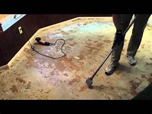 Remove glue down wood flooring youtube for How to remove glued down wood flooring on concrete