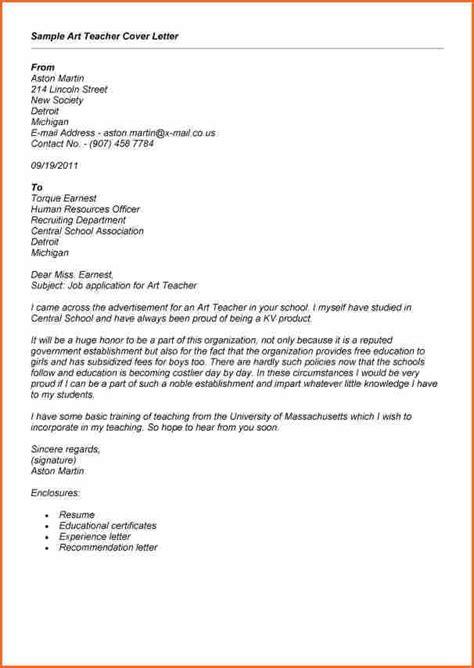letter cover for teacher application freshers teaching