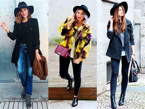 Looks de abrigo con sombrero para otou00f1o 2015 | ActitudFem