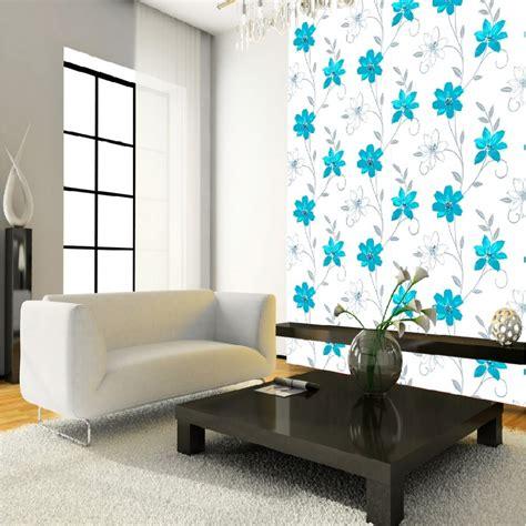 luciana flower floral leaf motif pattern blue white