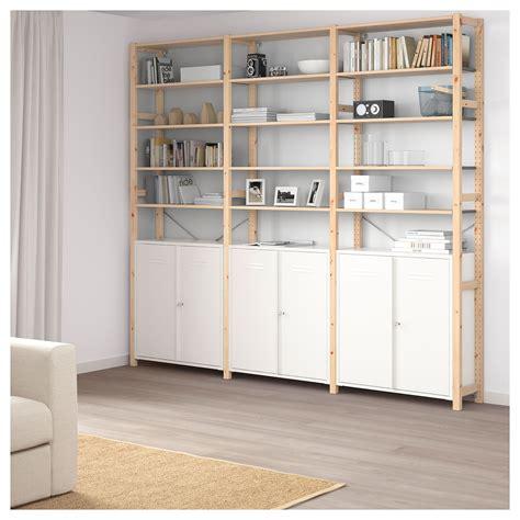 Ikea Cupboard Shelves by Ikea Ivar Pine White 3 Sections Cabinet Shelves In 2019