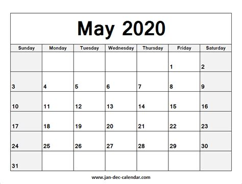 blank printable  calendar  template  june