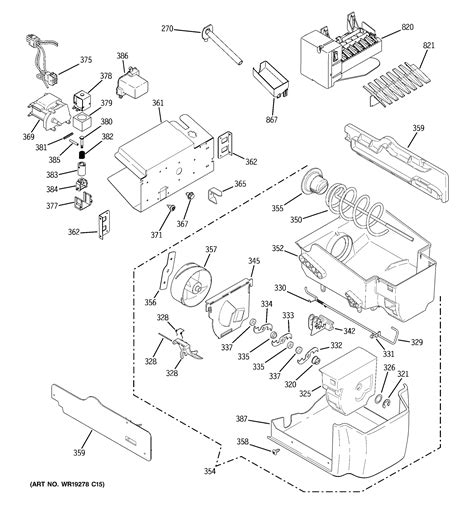 ge model pscpswass side  side refrigerator repair replacement parts