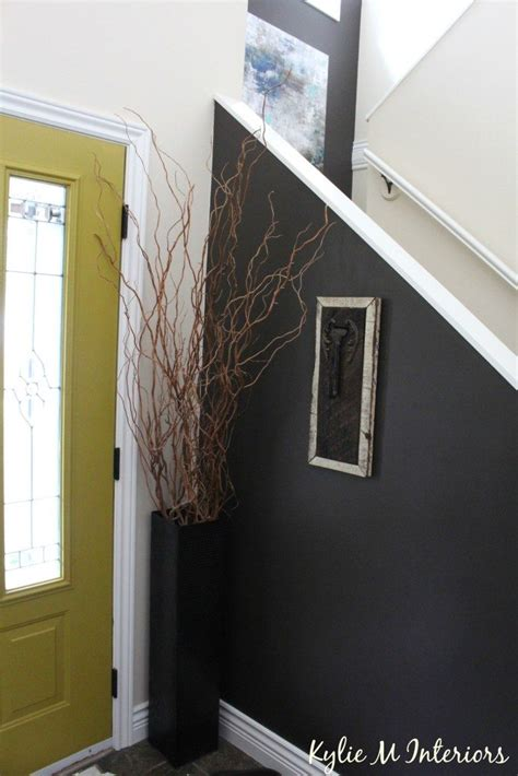 entryway foyer  stairwell decorating ideas behr
