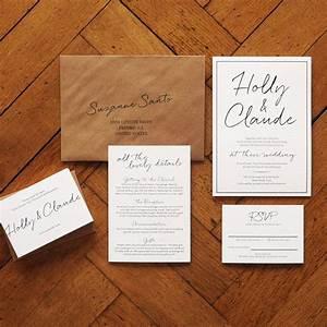 east coast wedding invitation set on luxury card modern With modern luxury wedding invitations uk