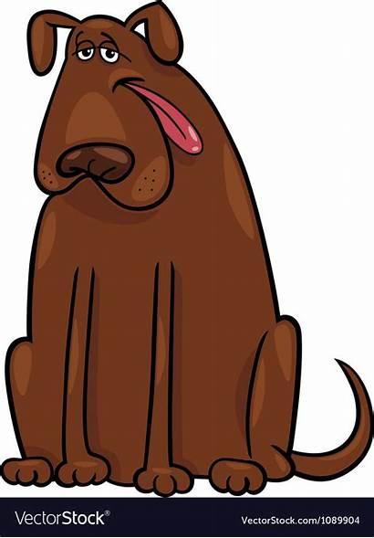 Dog Cartoon Brown Vector Royalty