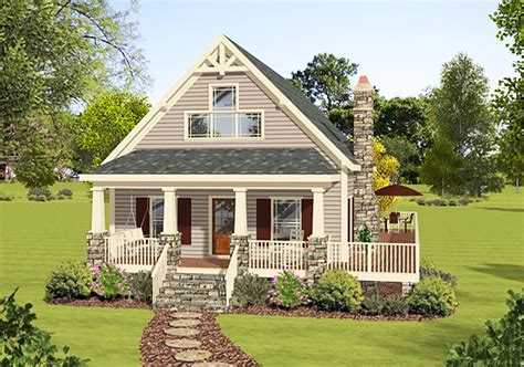 master up cottage with private deck 20111ga architectural designs house plans