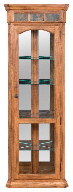 rustic corner china cabinet sunny designs sedona corner curio cabinet rustic oak