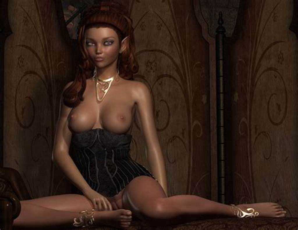 #Exotic #Wood #Elf #At #Intervals #A #Corset #That #Doesn'T #Hide