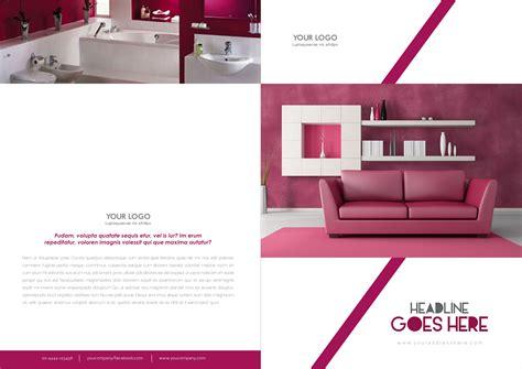bi fold interior brochure design template