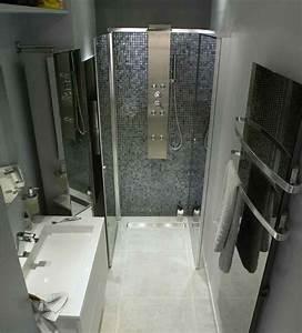 petite salle de bain moderne With amenagement petite salle de bain avec douche