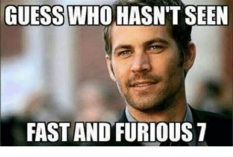 25+ Best Memes About Fast And Furious 7