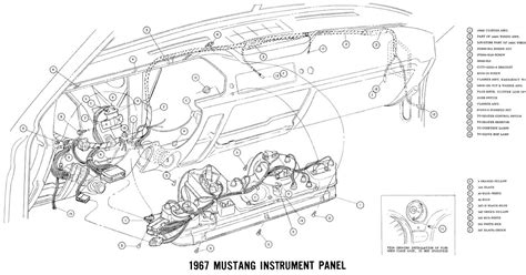 1967 Ford Mustang Wire Harnes Diagram by Free Auto Wiring Diagram 1967 Ford Mustang Instrument Panel
