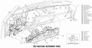 Free Auto Wiring Diagram  1967 Ford Mustang Instrument Panel