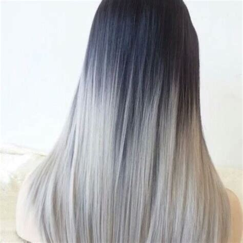silber haare haare silber mit ombre farbe usw f 228 rben grau