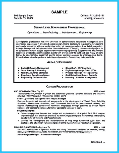 the most excellent business management resume