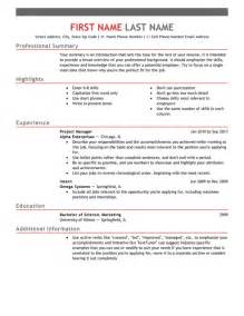 resume template in html format 30 free professional resume templates