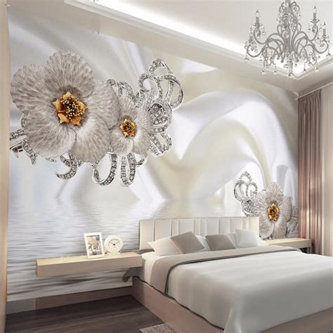 custom mural wallpaper modern silk cloth diamond large