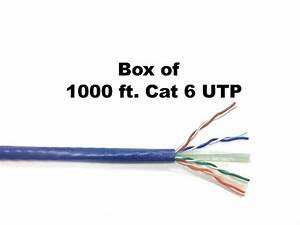 Cat6 Bulk Cable Utp Cable Blue 1000ft On Sale And In Stock