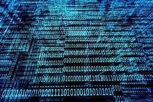 A blue binary codes background | Stock Photo | Colourbox