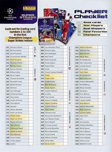 Checkliste Panini CL 2010 UPDATE