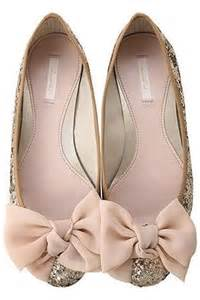 wedding shoes with bows wedding nail designs sparkle and bow flats 2033232 weddbook