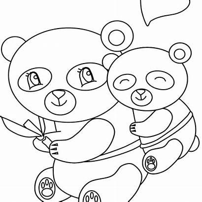 Coloring Mother Mothers Mom Madre Panda Ibu