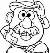 Nose Coloring Pages Head Potato Printable Mr Getdrawings Getcolorings sketch template