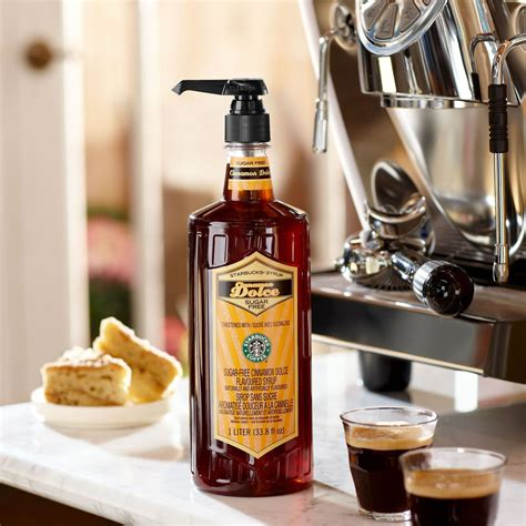 If the barista asks whether you want it sweetened, decline, decline, decline. STARBUCKS SUGAR FREE CINNAMON DOLCE syrup bottle FREE pump! - Starbucks