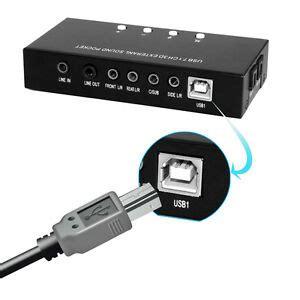 Usb Soundcard 7 1 Channel Sound usb 7 channel 5 1 audio external optical sound card