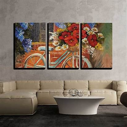 Canvas Wall Piece Decor Painting Flowers Hang