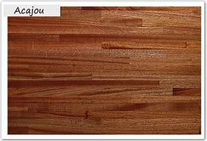 Plan De Travail Salle De Bain Bois : acajou plans de travail en bois massif plan de travail ~ Teatrodelosmanantiales.com Idées de Décoration