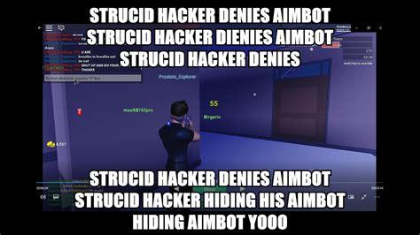 strucid hacker denies aimbot youtube