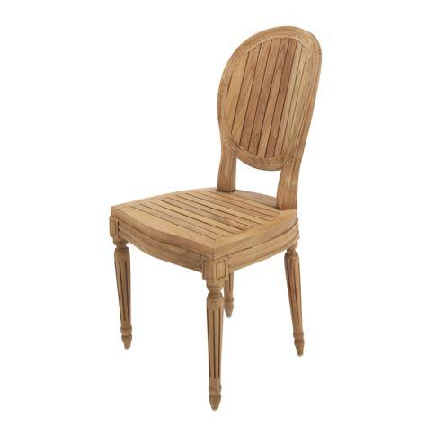 chaise louis maison du monde chaise de jardin en teck louis maisons du monde