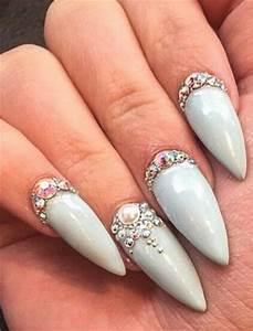 Rhinestone stone colored nails nailart design @classyclaws ...