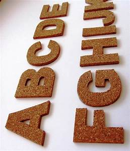 3d cork self adhesive letters wall decor cork alphabet for Self adhesive letters for walls