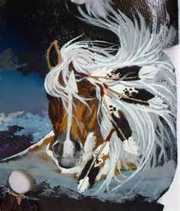 Native American Spirit Horse Art