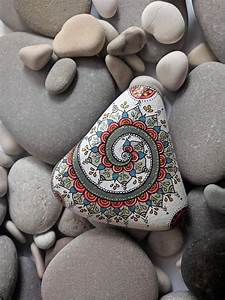 This, Unique, Triangle, Shaped, Painted, Mandala, Stone, Is