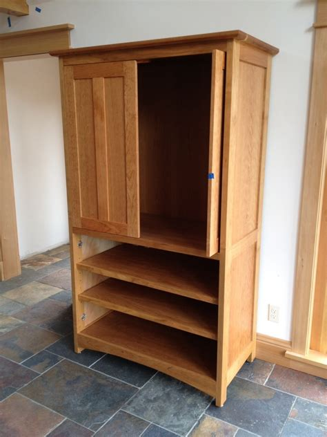 cherry quot prairie quot media cabinet with pocket doors boulder furniture arts
