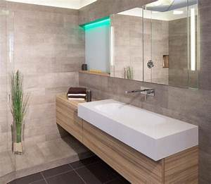 Meuble Salle De Bain Bois Gris : 101 photos de salle de bains moderne qui vous inspireront ~ Edinachiropracticcenter.com Idées de Décoration