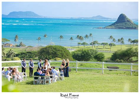 wedding at kualoa ranch paliku gardens right frame