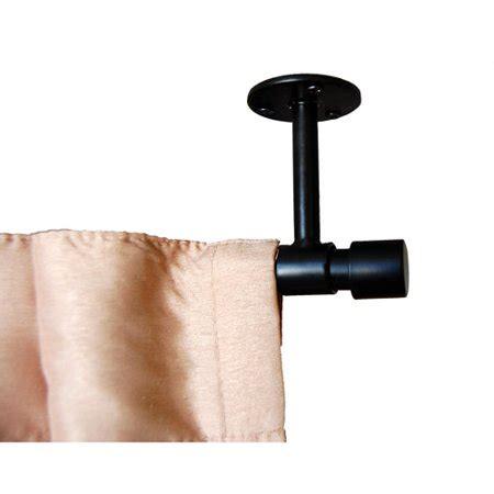 verona ceiling mount curtain rod black walmart