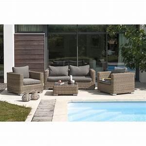 Salon De Jardin En Rotin Leroy Merlin : salon bas de jardin montmartre r sine tress e naturel 4 ~ Premium-room.com Idées de Décoration