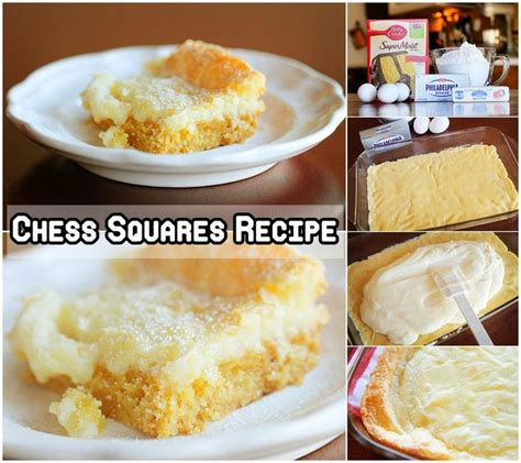 chess pie square recipes images  pinterest