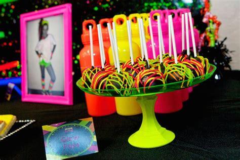 karas party ideas neon  skate themed birthday party