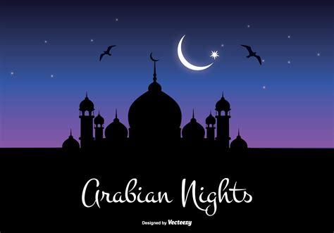 arabian nights illustration   vector art