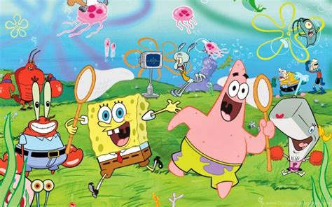 spongebob  friends wallpapers wallpaper cave