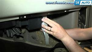 How To Install Replace Cabin Air Filter 2000