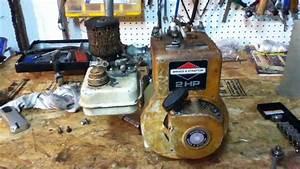 Briggs  U0026 Stratton 2hp Head Remove   De-coke