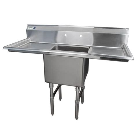 one compartment stainless steel sink regency 54 quot 16 gauge stainless steel one compartment